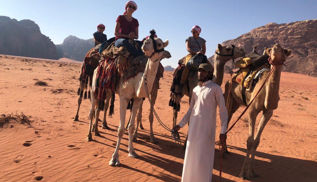 Camel ride Wadi Musa Jordan Cheeky Universe