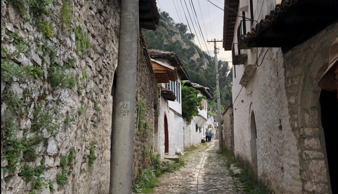 Cobblestone street Berat Albania