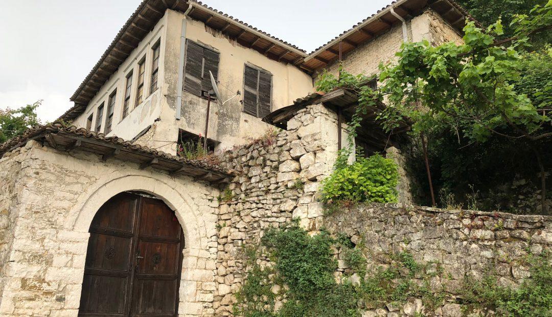 Berat Albania old stone building