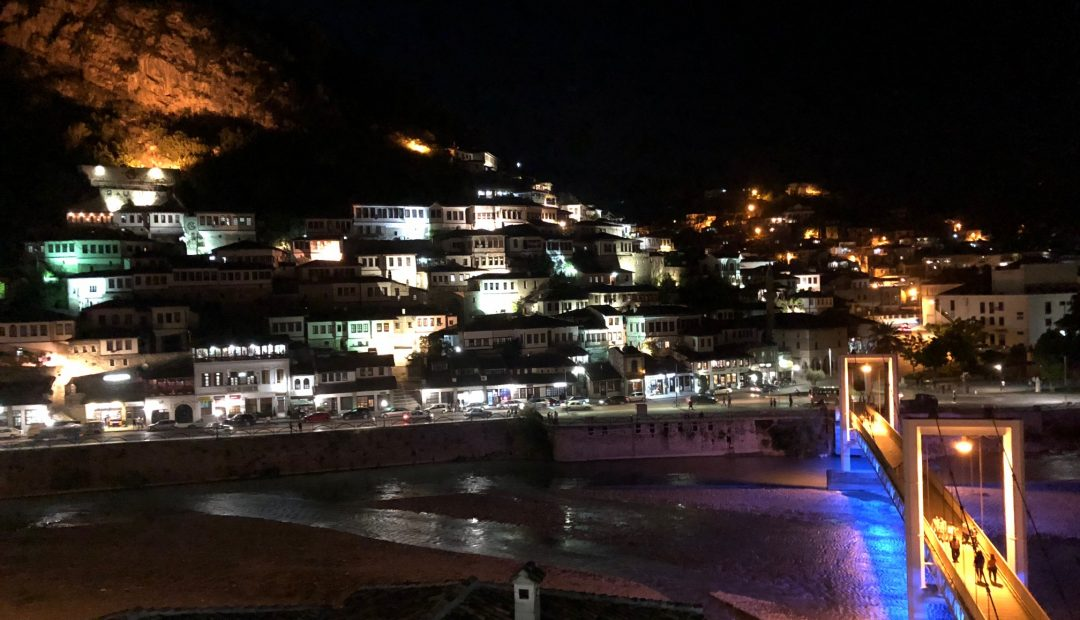 Berat Albania Panoramic Night View